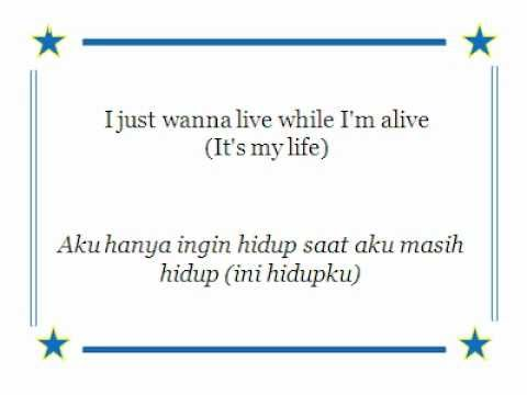 Lyric Its my life with Indonesian subtitle Bon Jovi