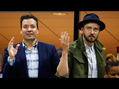 "Justin Timberlake & Jimmy Fallon Dance to ""Single Ladies"" at US Open"