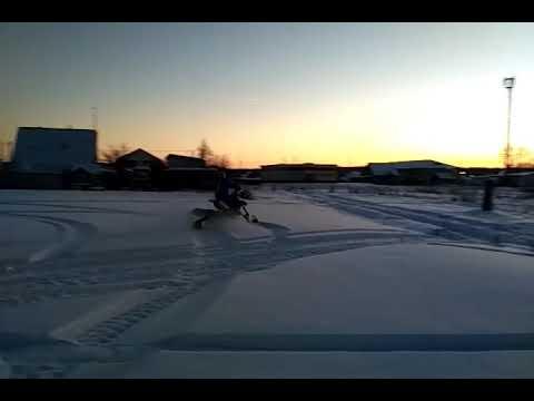 Сноубайк (snowbike) покатушки