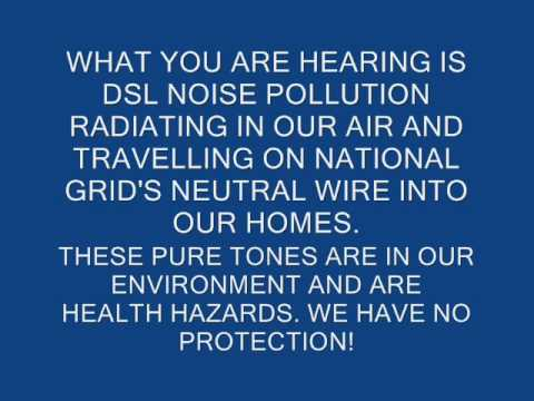 VERIZON DSL/WI-FI NOISE POLLUTION AND NATIONAL GRID'S DIRTY POWER