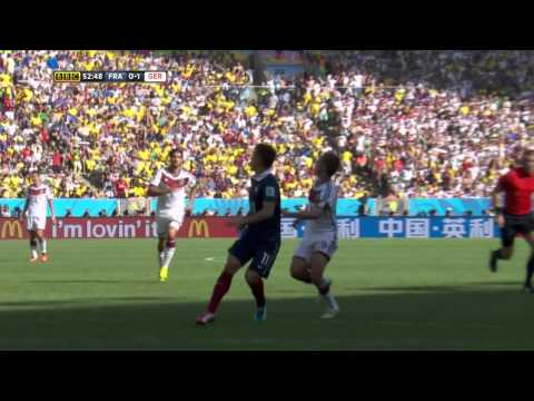 World Cup 2014 Quarterfinal Germany vs France, HD BBC
