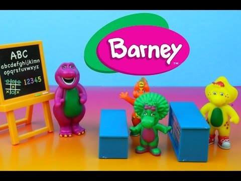 Barney Classroom Playset With Baby Bop Riff & Bj Sing-along Abc's Alphabet video