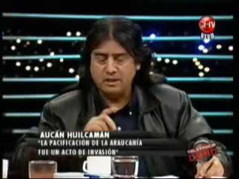 Aucan Huilcaman, werken o mensajero dirigente del Consejo de Todas las Tierras, 1 de 4