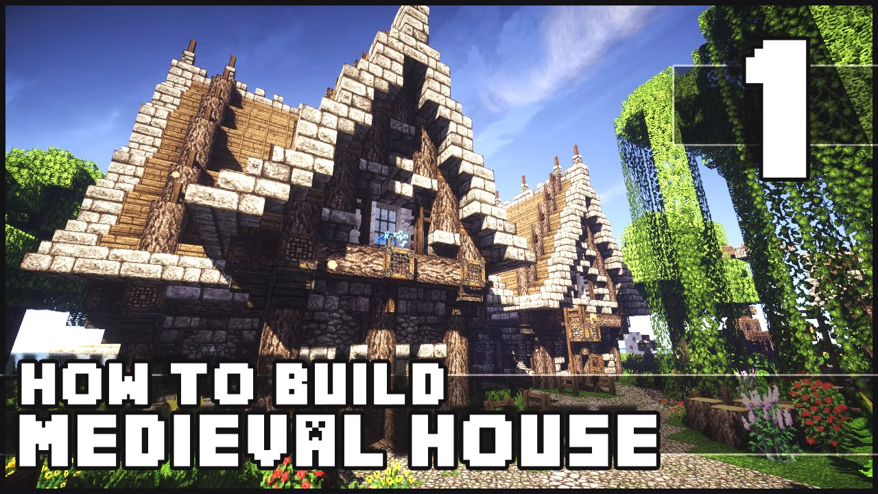 Minecraft How To Build Medieval House Part 1 Youtube