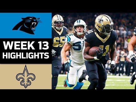 Panthers vs. Saints | NFL Week 13 Game Highlights