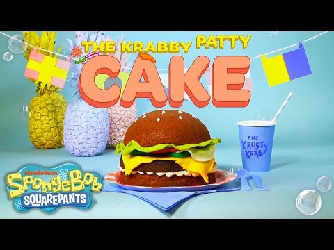 SpongeBob SquarePants   How to Make a Krabby Patty Cake   Nick
