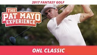 2017 Fantasy Golf Picks - OHL Classic DraftKings Picks, Sleepers and Preview