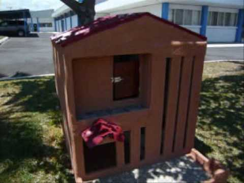 Casita dos pisos 2 floor dog house youtube for Piso para caseta de jardin