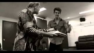 Andrew Garfield - Arcade Fire Pre-Show Behind the Scenes