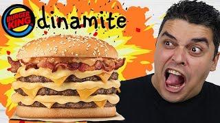 MEGA STACKER DINAMITE 3.0 - Novidade do Burger King