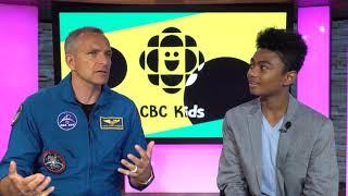 David Saint Jacques visits CBC | CBC Kids News