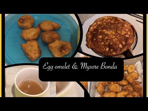 DIML||How to prepare Mysore Bonda||Egg Omelet||Simple Evening Snack||Telugu Vlogs in UK