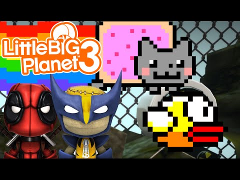 Nyan Cat & Flappy Bird! | Little Big Planet 3 Multiplayer (8) video