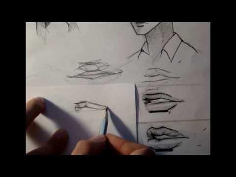 Видео как нарисовать губы аниме