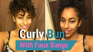 How to: Curly Bun and Bang Tutorial