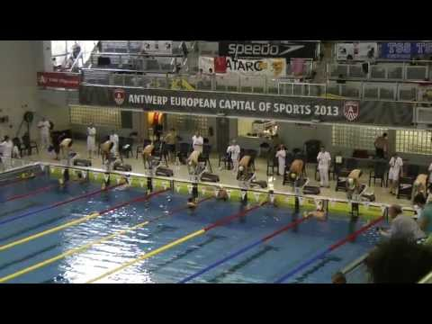 272  Championnat de Belgique Open Anvers Men, 100m Freestyle Heat 6 of 8