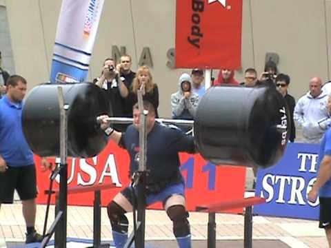 Worlds Strongest Man Keg Squat 111