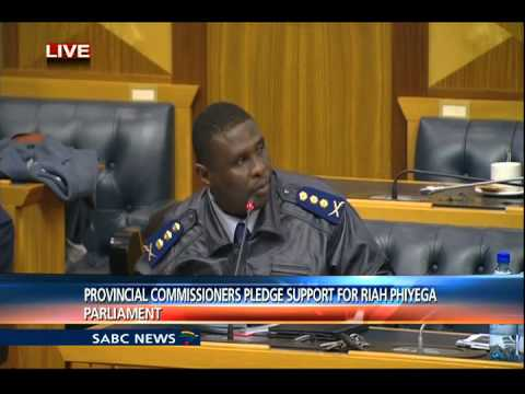 Provincial commissioners apologise for publicly supporting Phiyega