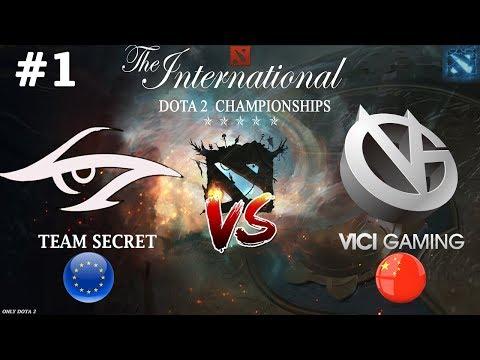 Слишком КРАСИВАЯ Дота!   Secret vs VG #1 (BO3)   The International 2018