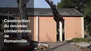 Construction du nouveau conservatoire de Romainville