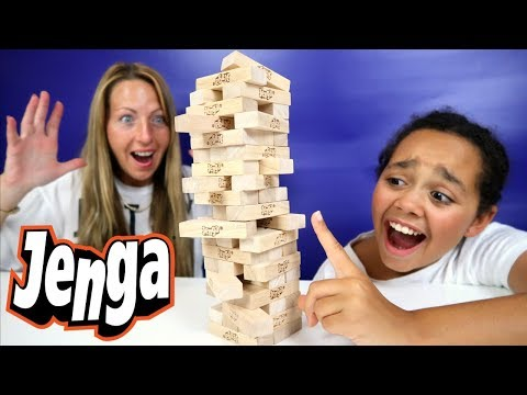 Crazy Jenga Challenge! Kids Toy Prizes | Family Fun Video