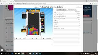 tetris sprint in 2:34