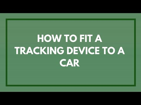 Fitting A Covert Tracking Device To Vehicles