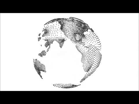 Transparent Earth Globe Animation Alpha Channel Edge Detection Effect 1080p HD High Definition Video