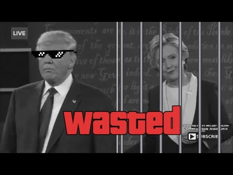 BECAUSE YOUD BE IN JAIL THUG LIFE - Trump Roasts Hillary Clinton For Prison 2nd Presidential Debate