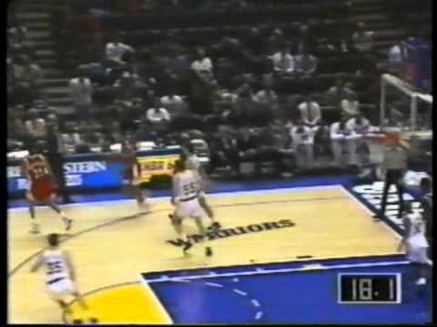 Jud Buechler Dunks Twice During Garbage Time