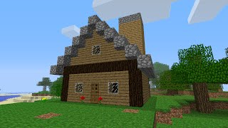 Minecraft: how to build a house for beginners (parody)