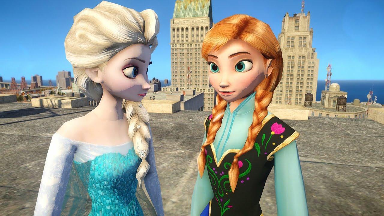 Elsa vs Anna of Arendelle - Frozen - YouTube
