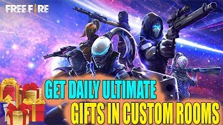 FREE FIRE DAILY GIFTS - 237 || CUSTOM ROOMS || TELUGU GAMING ZONE