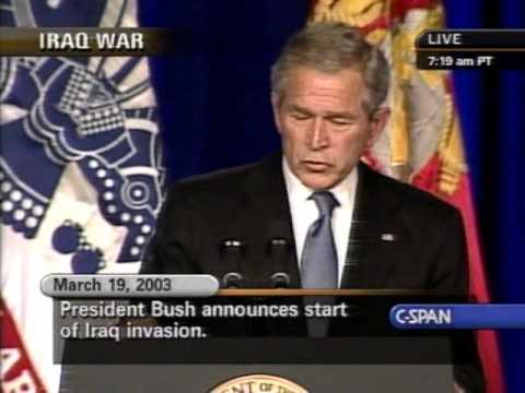 george w bush speech 5th anniversary of the iraq war crime