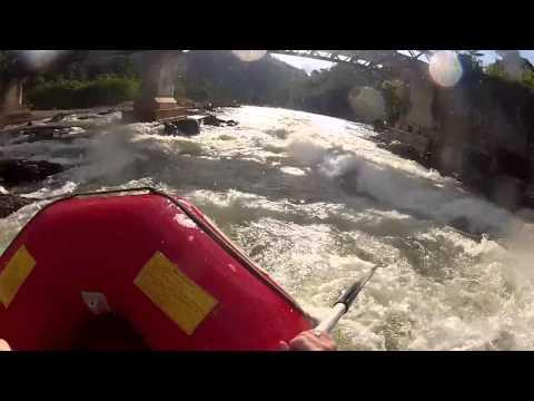 "White water rafting Kitulgala Sri Lanka On the river where they filmed ""Bridge over the river Kwai"""