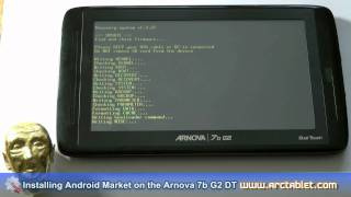 Android Market and root on Arnova 7b G2 DT (Dual Touch) custom firmware