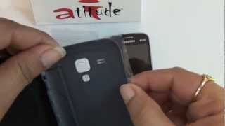 Samsung Galaxy Duos Premium Flip Cover Application by Atitude