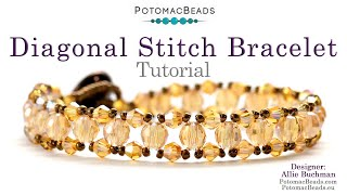 How to Make a Diagonal Stitch Bracelet (Beadweaving 250)