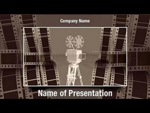 Film Projector PowerPoint Video Template Backgrounds - DigitalOfficePro #01029V