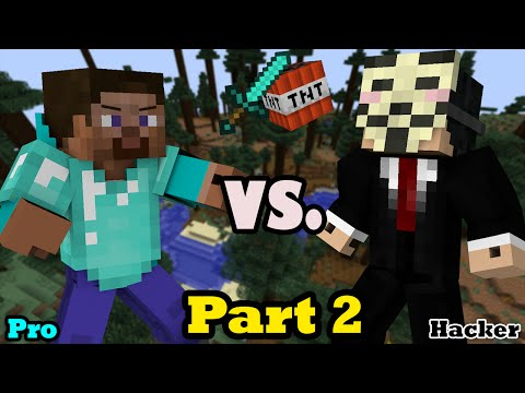Hacker VS. Pro - Minecraft PART 2