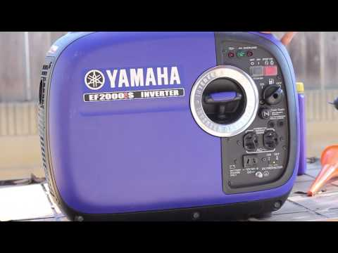 Yamaha EF 2000is Generator Break In Oil Change and Review