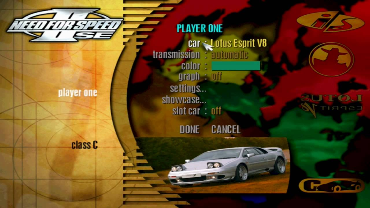 Need for Speed II SE Cheats