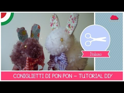 Come Fare Un Coniglietto Di Pon-pon (idea Per La Pasqua) - Tutorial Creativo Diy By Fantasvale video