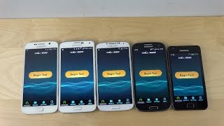 Samsung Galaxy S6 vs. Galaxy S5 vs. Galaxy S4 vs. Galaxy S3 vs. Galaxy S2 - Internet Speed Test!