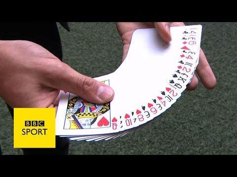 Wembley Stadium FA Cup magic trick - BBC Sport