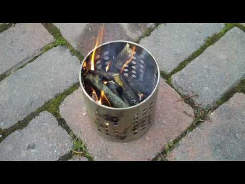 After viewing another youtube video, I realized that I had the same canister from IKEA and wanted to try it out with a branch that broke off a tree on the pr...