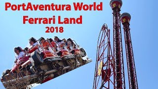 2018 Ferrari Land: Red Force & Free Fall Tower PortAventura World Spain Salou