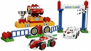Машинки: Конструктор Лего Дупло - Lego Duplo Cars 2 Build Lightning McQueen VS Francesco Bernoulli