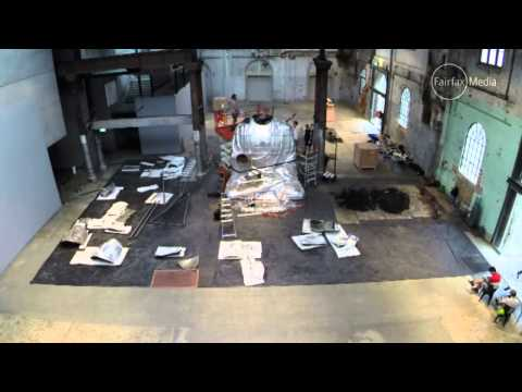 Sydney Buddha being created at Carriageworks, Sydney Festival 2015 HD