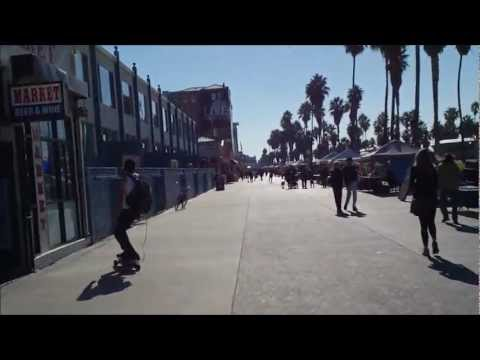 E-Glide electric skateboarding @ Venice Beach, CA